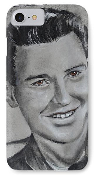 IPhone Case featuring the drawing Duane 'red' Loban by Eric Dee