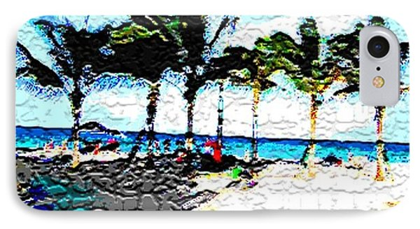 Hollywood Beach Fla Digital IPhone Case