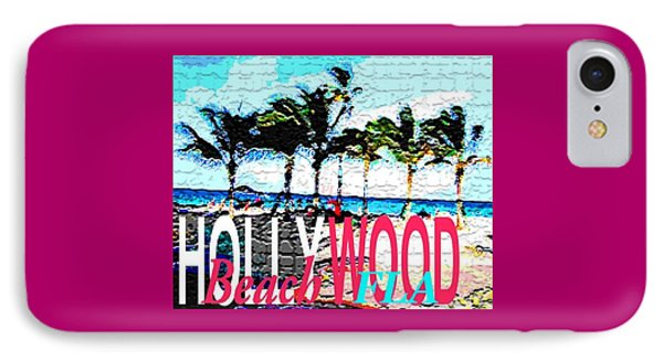 Hollywood Beach Fla Poster IPhone Case
