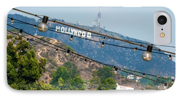 Hollywood Sign On The Hill 1 IPhone Case by Micah May