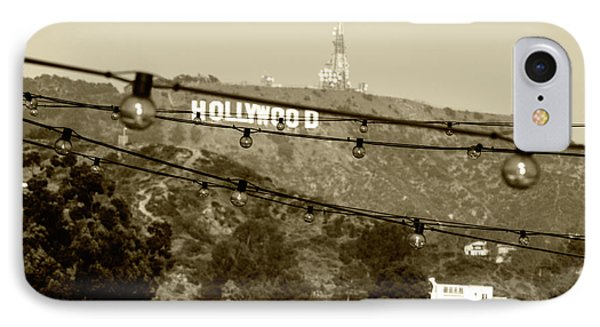 Hollywood Sign On The Hill 4 IPhone Case by Micah May