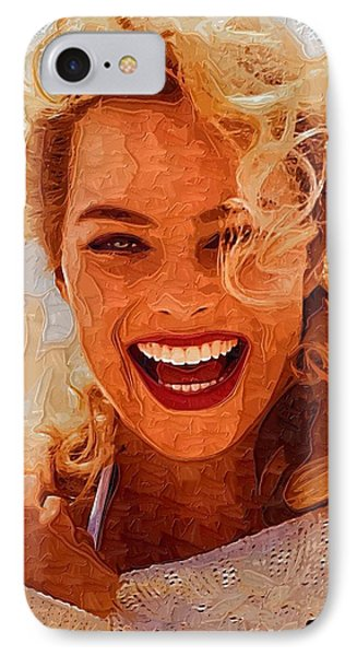 Hollywood Star Margot Robbie IPhone Case by Best Actors