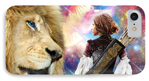 IPhone Case featuring the digital art Holy Calling by Dolores Develde