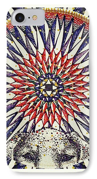 IPhone Case featuring the painting Holy Dog by Kym Nicolas