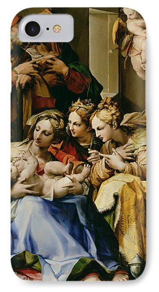 Holy Family With Saint Anne Catherine Of Alexandria And Mary Magdalene IPhone Case