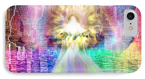 IPhone Case featuring the digital art Holy Holy Holy by Dolores Develde