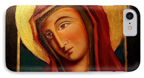 IPhone Case featuring the painting Holy Mary by Irena Mohr