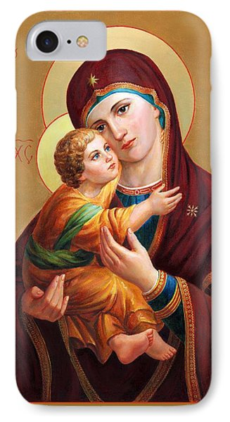 IPhone Case featuring the painting Holy Mother Of God - Blessed Virgin Mary by Svitozar Nenyuk