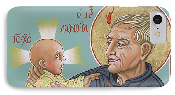 IPhone Case featuring the painting Holy Prophet Daniel Berrigan 291 by William Hart McNichols