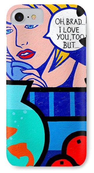 Homage To Lichtenstein With Goldfish IPhone Case