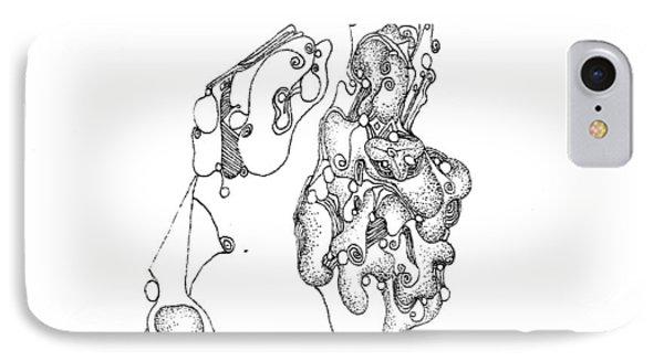 Homage To Tanguy Phone Case by Regina Valluzzi