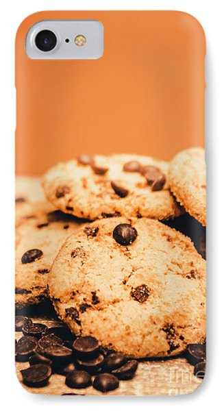 Home Baked Chocolate Biscuits IPhone Case by Jorgo Photography - Wall Art Gallery