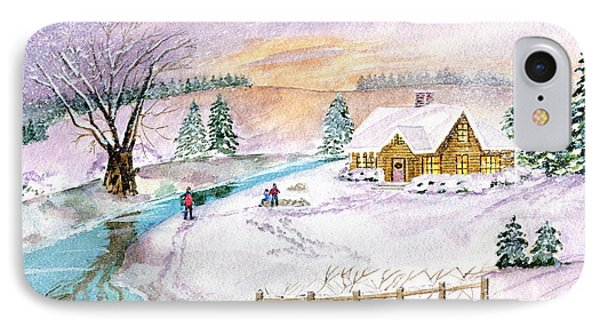IPhone Case featuring the painting Home For Christmas by Melly Terpening