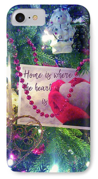 IPhone Case featuring the photograph Home Is Where The Heart Is by Toni Hopper