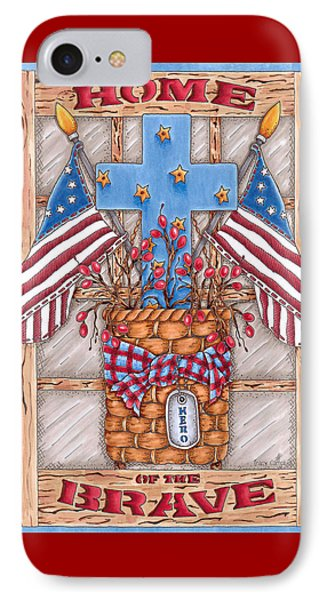 Home Of The Brave IPhone Case by Tracy Campbell