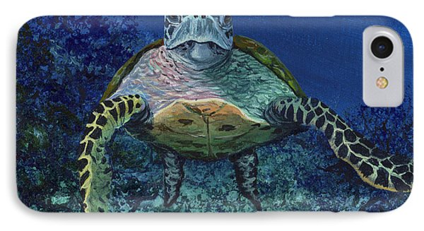 IPhone Case featuring the painting Home Of The Honu by Darice Machel McGuire