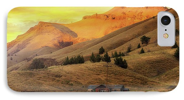 Home On The Range In Antelope Oregon Phone Case by David Gn