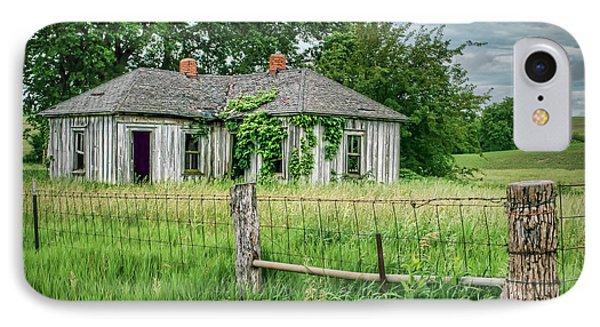 Home Place - Farmhouse - Kansas IPhone Case by Nikolyn McDonald