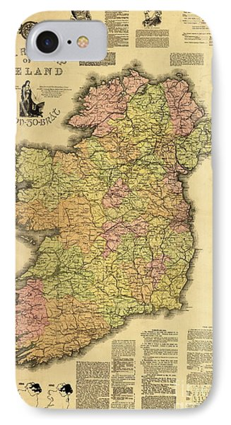 Home Rule Map Of Ireland, 1893 IPhone Case