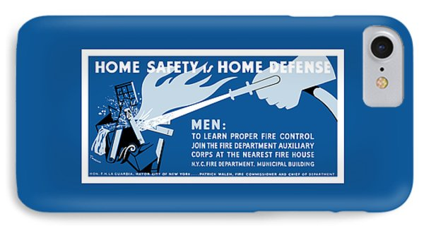 Home Safety Is Home Defense Phone Case by War Is Hell Store