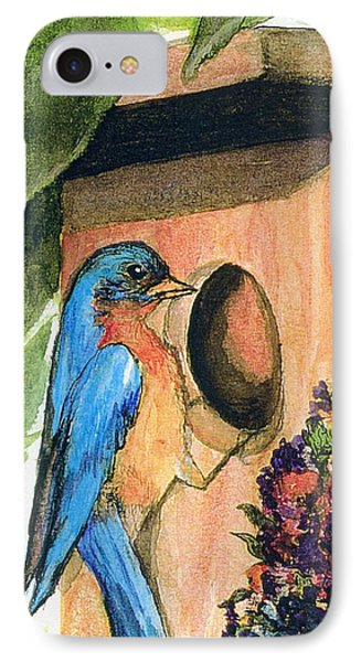 IPhone Case featuring the painting Home Sweet Home by Gail Kirtz