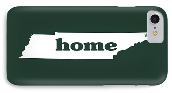 home TN on Green IPhone Case by Heather Applegate