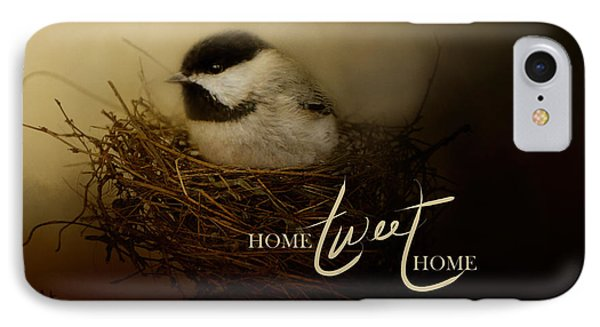 Home Tweet Home With Words IPhone 7 Case by Jai Johnson