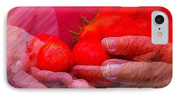Homegrown Red Ripe Tomatoes Phone Case by Lewis Lang