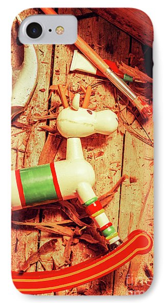 Homemade Christmas Toy IPhone Case by Jorgo Photography - Wall Art Gallery