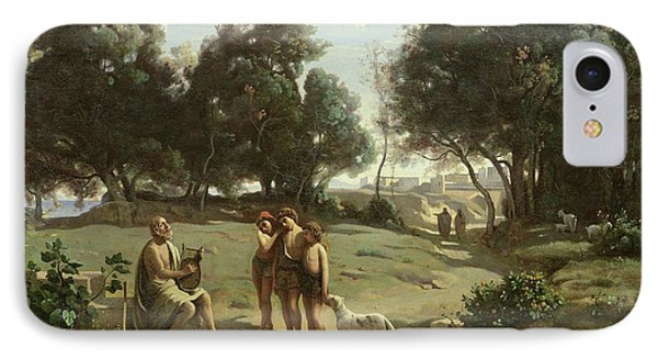 Homer And The Shepherds In A Landscape IPhone Case by Jean Baptiste Camille Corot