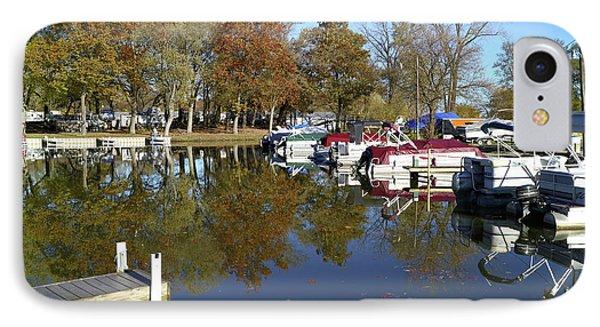 Hometown Marina In Autumn IPhone Case by Scott Kingery