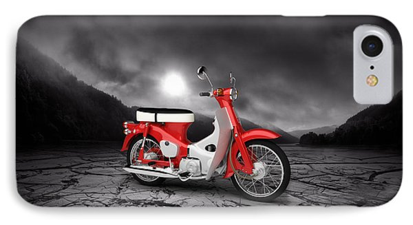 Honda C50 Cub 1967  Mountains IPhone Case by Aged Pixel