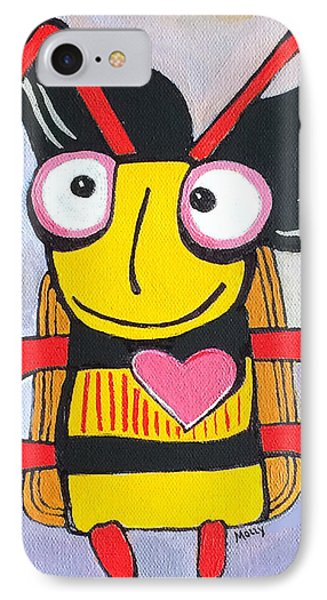 Honey Bee I IPhone Case by Molly Williams