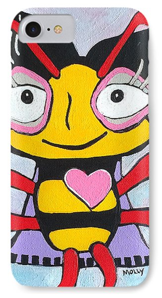 Honey Bee II IPhone Case by Molly Williams