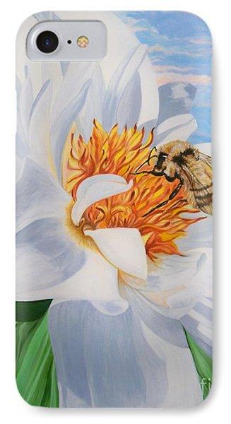 Honey Bee On White Flower IPhone Case