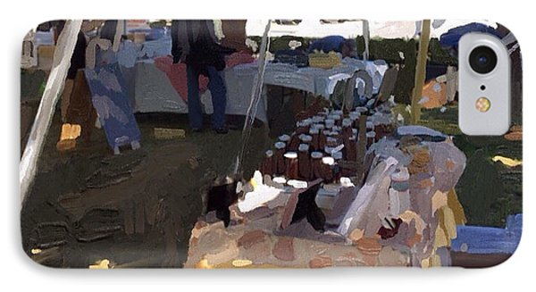 Honey Tent At Farmer's Market IPhone Case