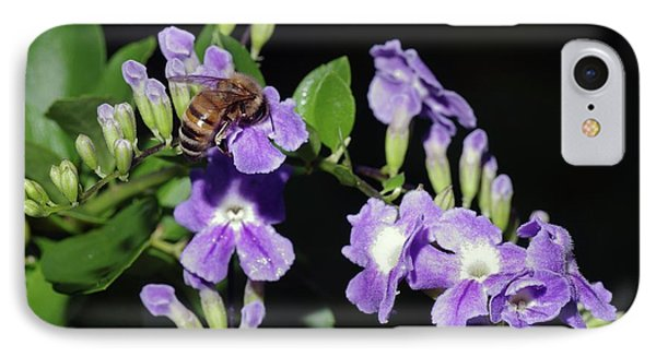 IPhone Case featuring the photograph Honeybee On Golden Dewdrop II by Richard Rizzo