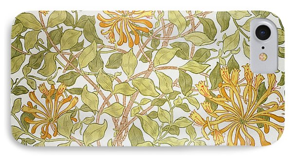 Honeysuckle Design IPhone Case by William Morris