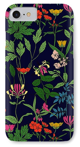 Honeysuckle Floral IPhone Case by Sholto Drumlanrig
