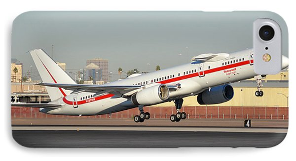Honeywell Boeing 757-225 N757hw Phoenix Sky Harbor January 14, 2016 Phone Case by Brian Lockett