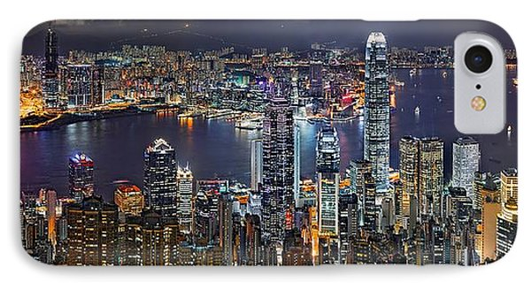 Hong Kong At Dusk Phone Case by Jeff S PhotoArt