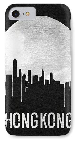 Hong Kong Skyline Black IPhone Case by Naxart Studio