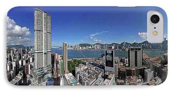 Hong Kong View From Tsim Sha Tsui, Kowloon To Hongkong Island IPhone Case