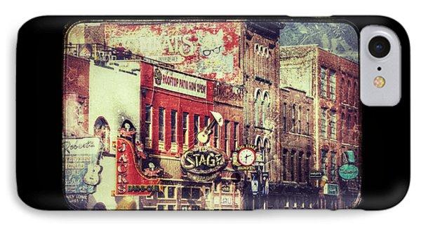Honky Tonk Row - Nashville IPhone Case by Debra Martz
