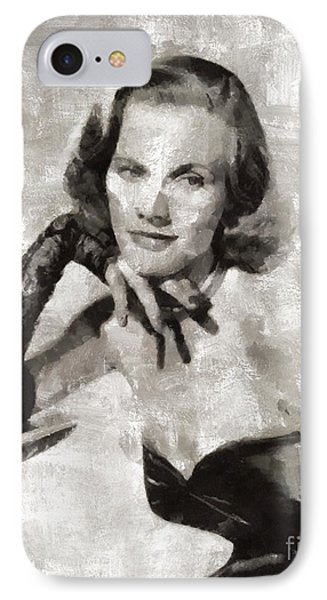 Honor Blackman, Actress IPhone Case by Mary Bassett