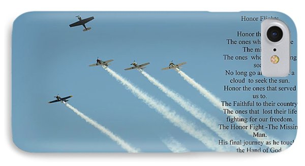 Honor Flight- Missing Man Formation IPhone Case