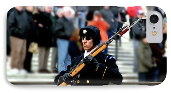 Honor Guard At Arlington Cemetery Phone Case by April Sims