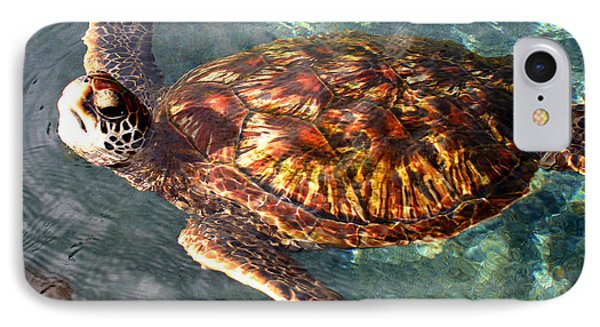 Honu Green Sea Turtle Maui Hawaii Phone Case by Pierre Leclerc Photography