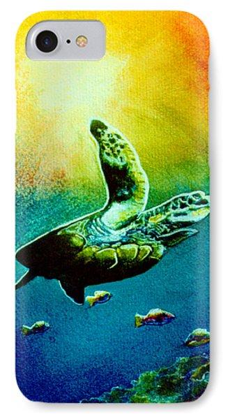 Honu Hawaiian Sea Turtle #154  Phone Case by Donald k Hall