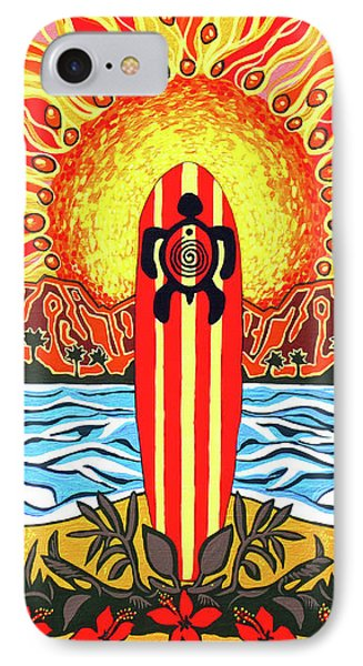 Honu Surf IPhone Case by Debbie Chamberlin